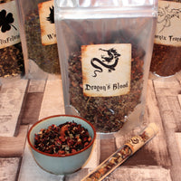 pack of Dragons Blood loose tea inspired by harry potter