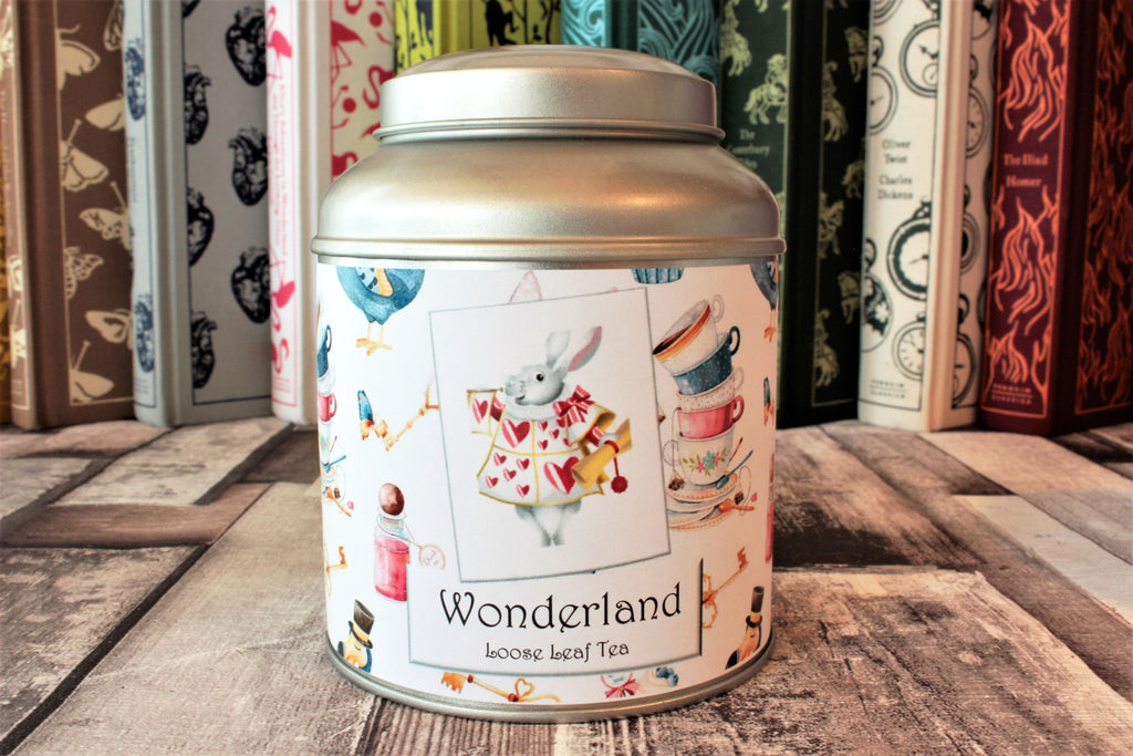 Alice in wonderland tea caddy