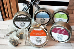 Literary Greats Pyramid Teabag Gift Box  - Selection of Authors and Poets