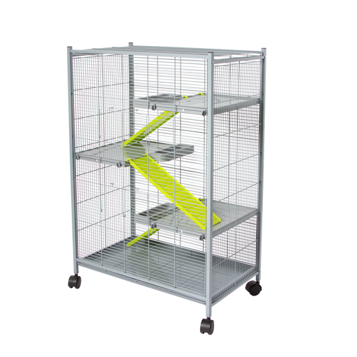 "493G (Ferret Cage. 4 level.70x41x107cm. 1/2"" Spacing. Black/Gray.)"