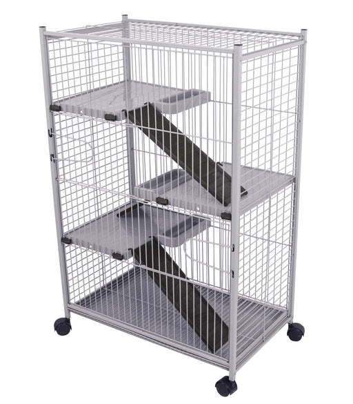 "492G (Ferret Cage. 4 level.70x41x107cm. 1.0"" Spacing. Black/Gray.)"
