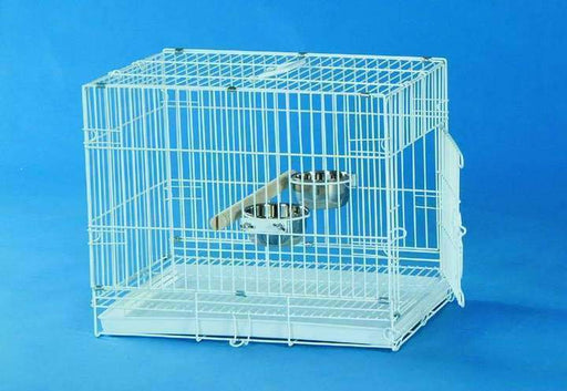 "9202 (19x12x16"" Collapsible Travel Cage. White.)"