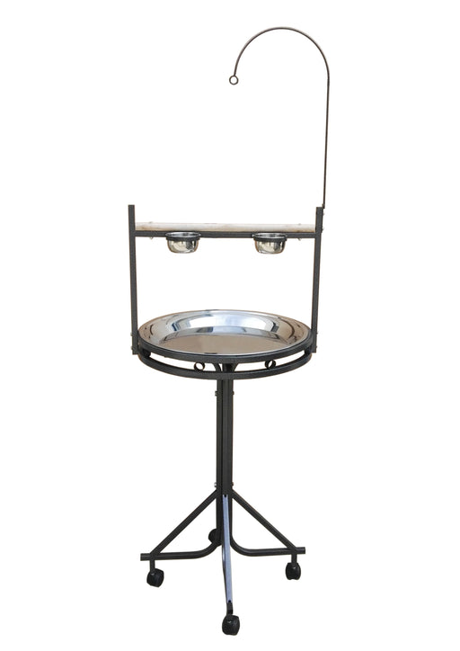 "42323bk (23""Dx52""H Stand w/ Stainless Steel. Black.)"