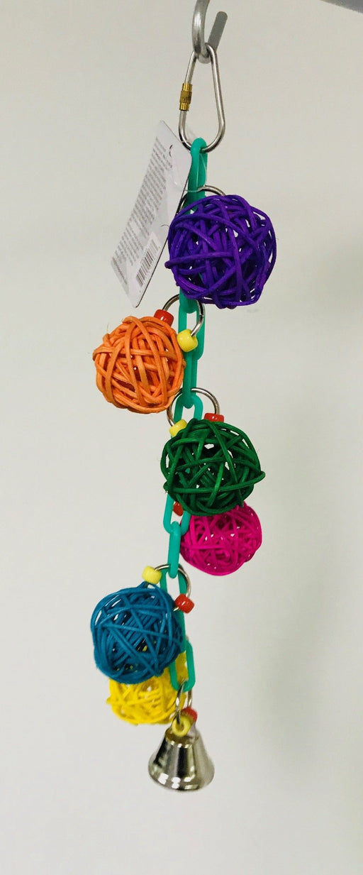 PB17003 (Bird Toy, 6 Wicker Balls & Bell. 72 PER CASE)