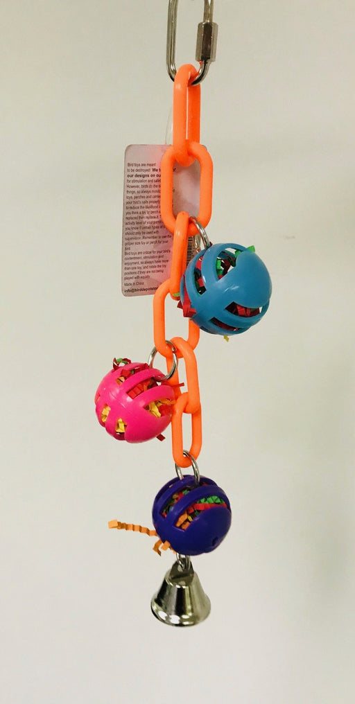 "PB19010 (Bird Toy, Waffle Stuffer Chain.   Size: 12"" x 2"". 72 PER CASE)"