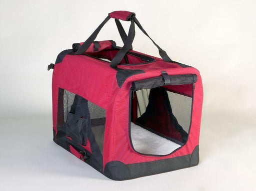 "BD24wb (24x16x16"" Foldable Nylon Dog Crate. Wine and Black. 1 per box.)"