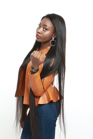 Brazilian Hair Straight Bundles With Closure 100% Human Hair Bundle With frontal 3 Bundles With Lace Closure Remy Hair