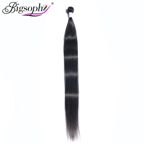 Bigsophy Brazilian Straight Hair Weave Bundles 8-44 Inch 100% Human Hair Weave Remy Hair Extensions Brazilian Hair 2 3 4 Bundle