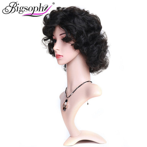 Bigsophy Brazilian Body Wave Hair Wig Machine Made  Short Human Hair Wigs For Machine Made Non-Remy Wig Women