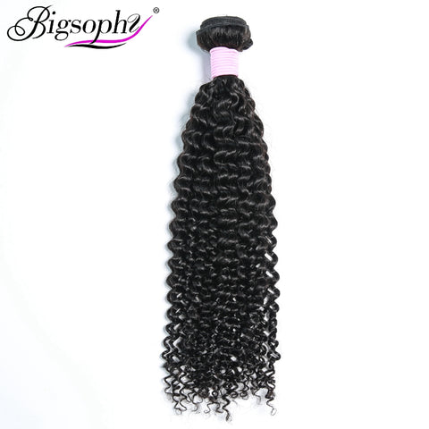 "Bigsophy Hair Brazilian Kinky Curly 100% Human Hair Bundles 8""-28""inch Natural Black Color Remy Hair Extensions Free Shipping"
