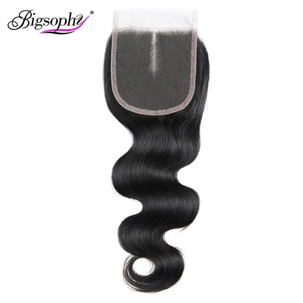 Bigsophy Brazilian Body Wave Closure 100% Human Hair 8-20 Inch 4*4 Lace Closure Free/Middle/Three Part Remy Hair Weaving 1PC/Lot
