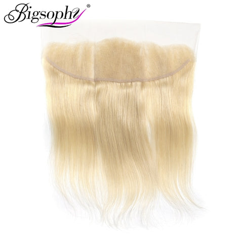 Bigsophy Mongolian Straight Wave 13x4 Lace Frontal Closure Ear To Ear 613 Color Blonde Lace Frontal Closure Remy Hair 10-20Inch