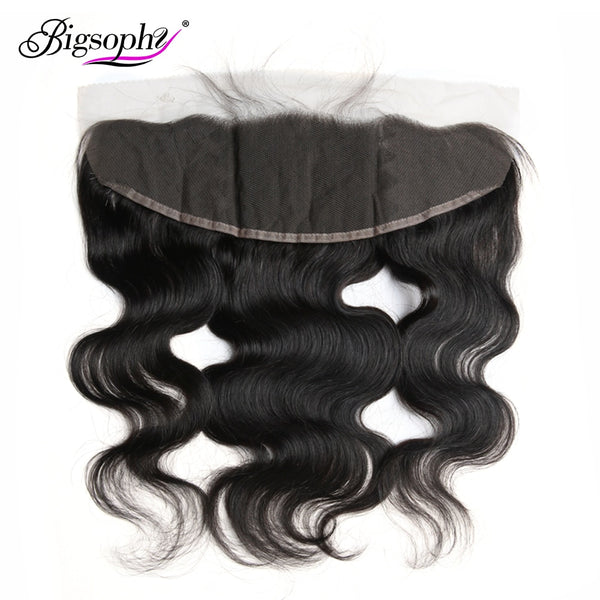 "Bigsophy Peruvian Body Wave Closure 13*4 Human Hair  Ear To Ear Lace Frontal Closure Remy Hair Frontal 8""-20"" Inch Natural Color"