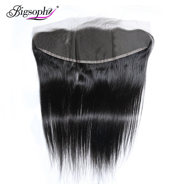 "Bigsophy Malaysian Straight Frontal Closure 13*4 Human Hair Lace Frontal Closure Human Remy Frontal 8""-20"" Inch Natural Color"