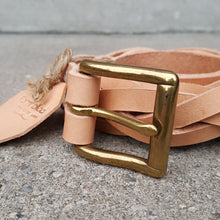 Jörð braided belt - brass