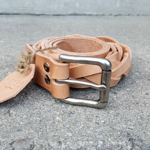 Jörð braided belt - silver