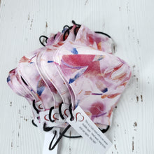 Washable fabric masks - Pink Wildflowers