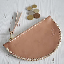 Half moon mini clutch - sand