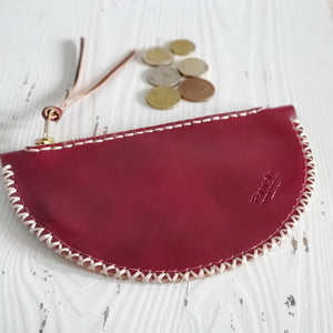 Half moon mini clutch - burgundy
