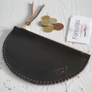 Half moon mini clutch - black