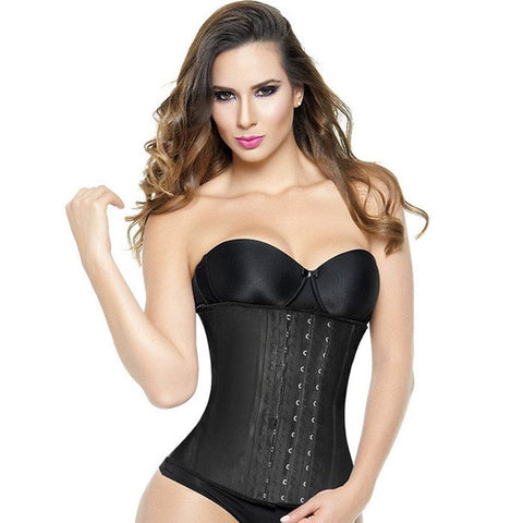 EXTREME WAIST TRAINER 3 HOOK BLACK (LATEX)