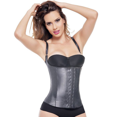 LATEX WAIST TRAINING VEST-BLACK