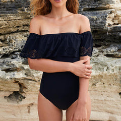 Off The Shoulder One-Piece Swimsuit