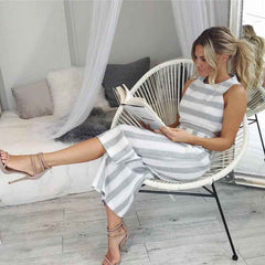 Aubree - Casual Striped Jumpsuit