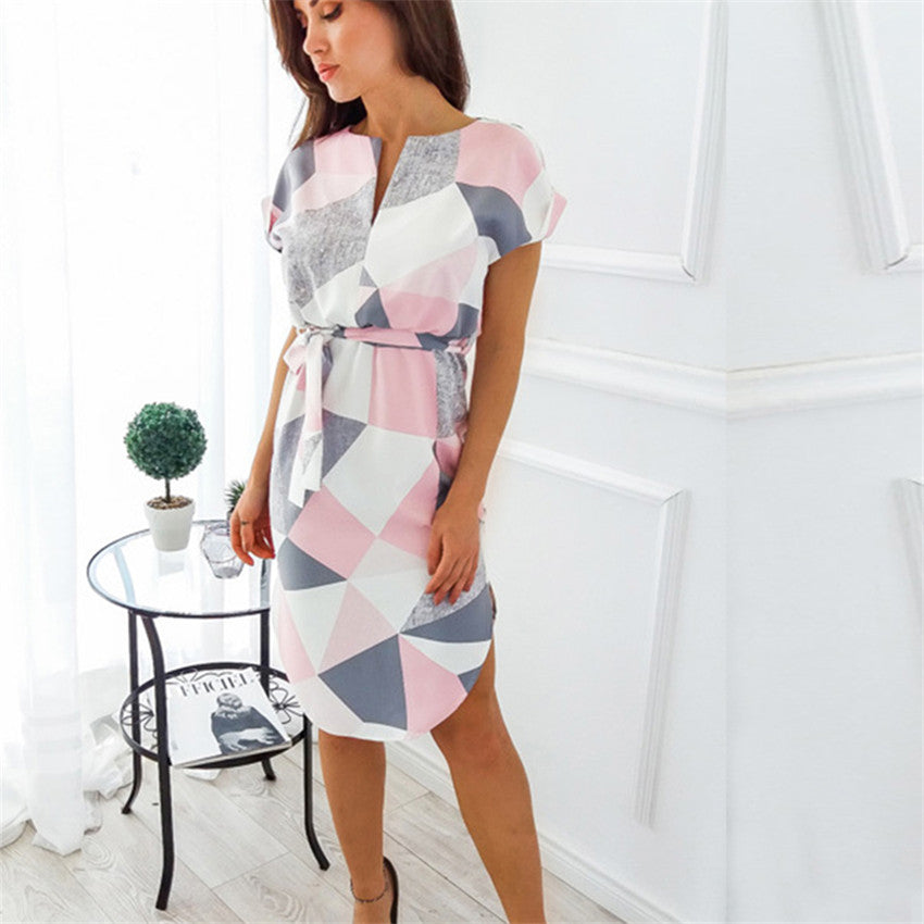 Shapes - Geometric Shapes Pencil Dress  (70)
