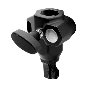 Double Socket w/Safety Spring Pin - Black