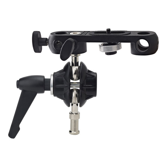 Double Ball Joint Adapter with Dual 5/8in (16mm) Studs with Camera Bracket