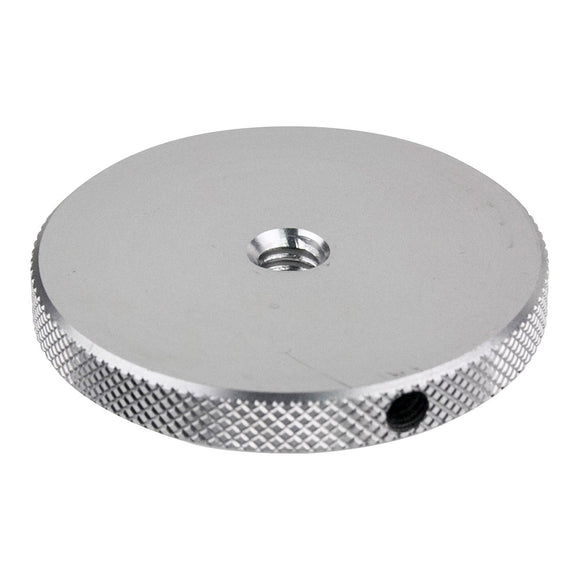 Round Knurled Flange Disc 1.77in with 1/4in-20 Female