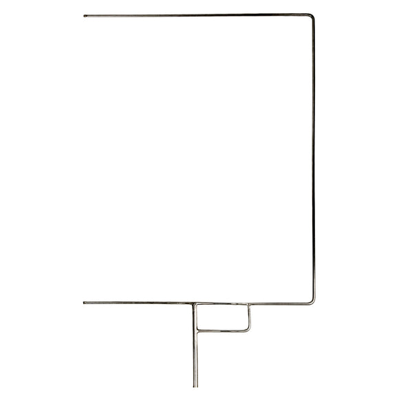 Flag Frame Open End 18in X 24in Stainless Steel