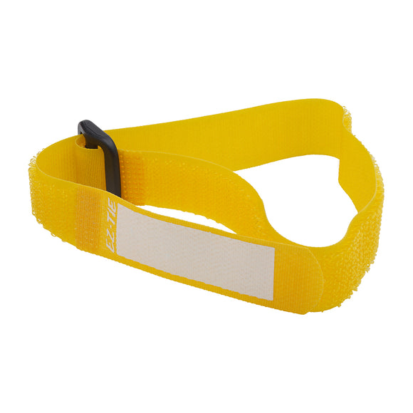 EZ-TIE Deluxe Cable Ties 0.78 x 16.1in (2 X 41cm) - Yellow (10 Pack)