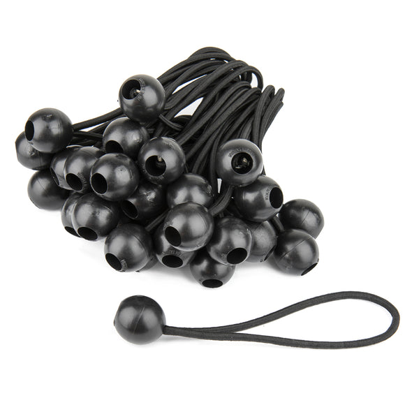 6in Heavy Duty Black Ball Bungees