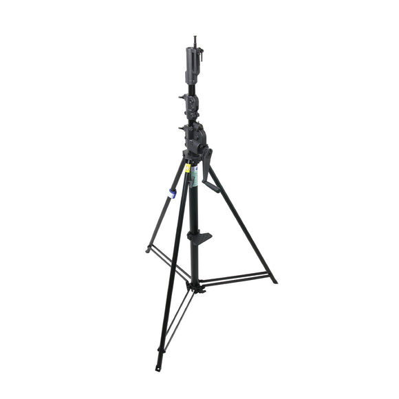 12ft Steel Black Wind-Up Stand with Auto Self Locking Device