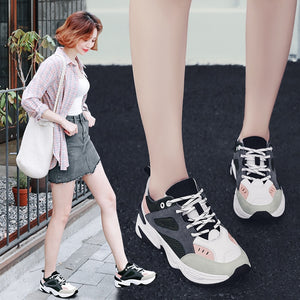 c94e851d2aa9 2018 New sport running Sneakers Women walking mesh Shoes Ladies lace up  platform shoes Breathable Size 35-40 Chaussures Femme