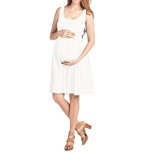 93c809b244237 Pregnant Clothes for Pregnancy Women Summer Striped Dress Sleeveless Plus  Size Outfit Photography Prop Maternity Dress