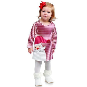 Lovely Little Girls Cute Christmas Dress Toddler