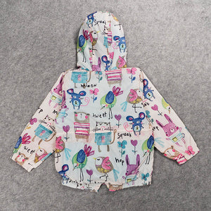 Girls Casual Hooded Jacket Outerwear
