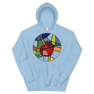 Stained Pomegranate Unisex Hoodie - Tatik