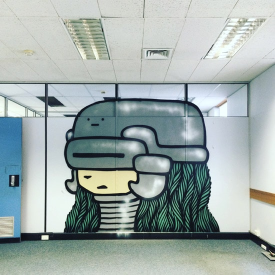 cartoon-robot-mural-in-office