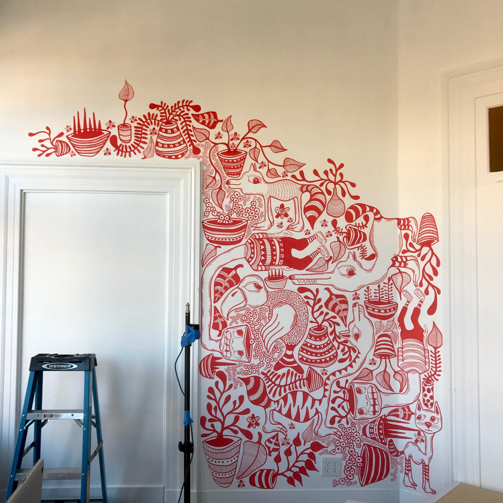 bedroom-art-mural-in-process-bret-brown-artwork