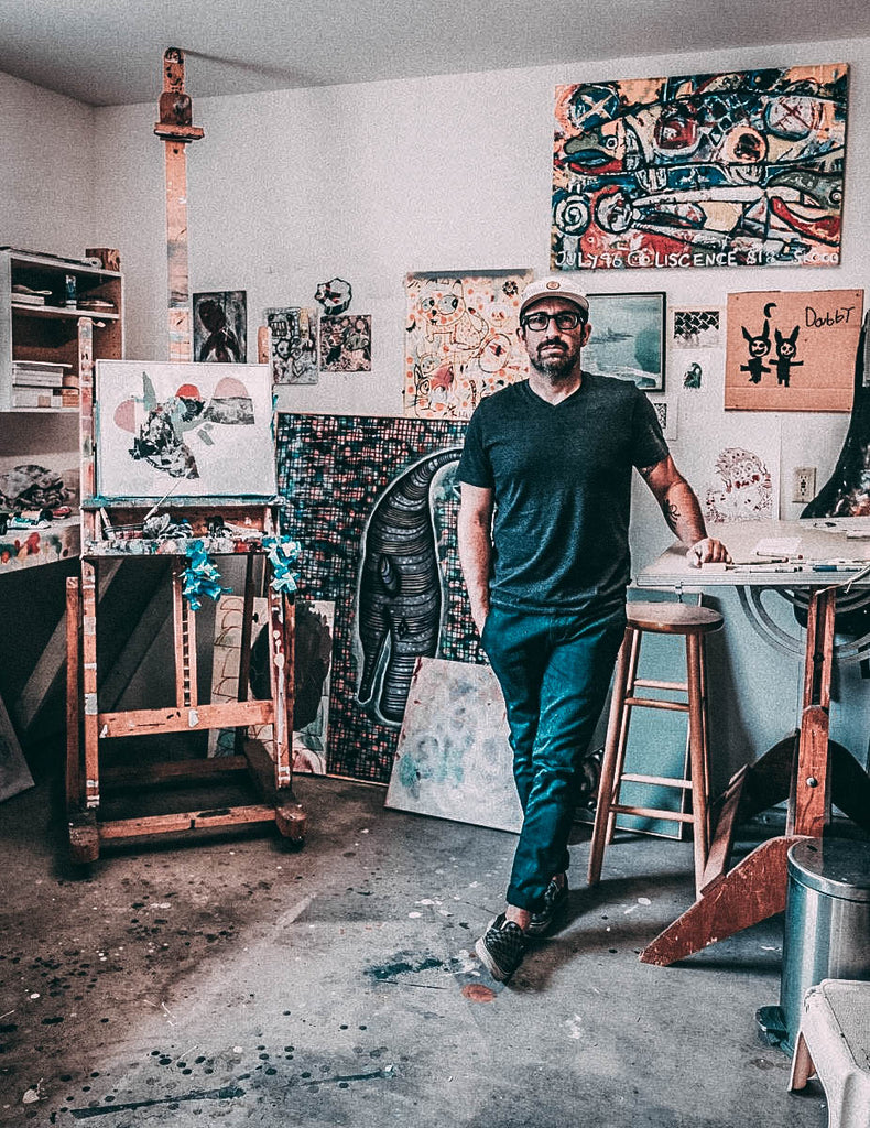 bret-brown-artist-interview-in-art-studio