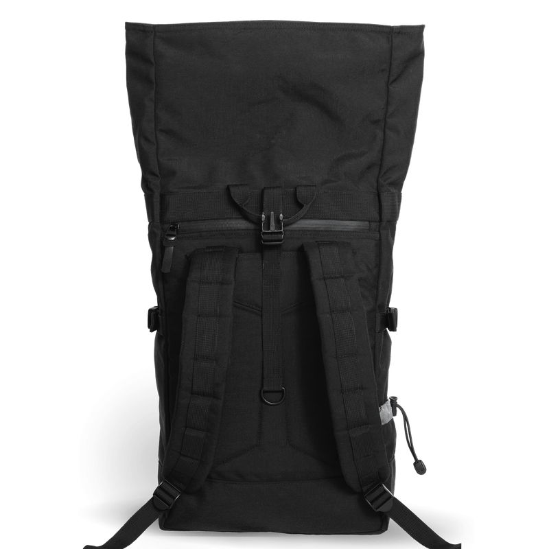 Commuter-roll-top-backpack-2.0-space-black-back