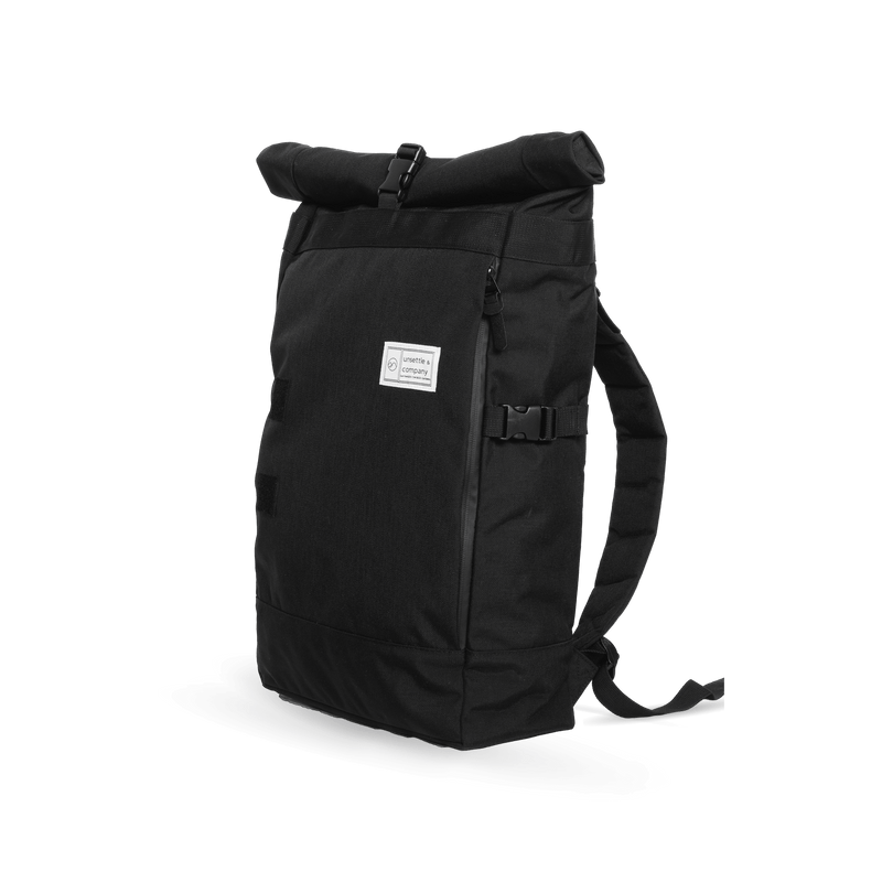 Commuter-roll-top-backpack-2.0-space-black-side-angle