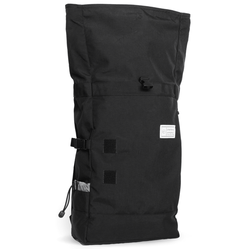 Commuter-roll-top-backpack-2.0-space-black-side-unrolled