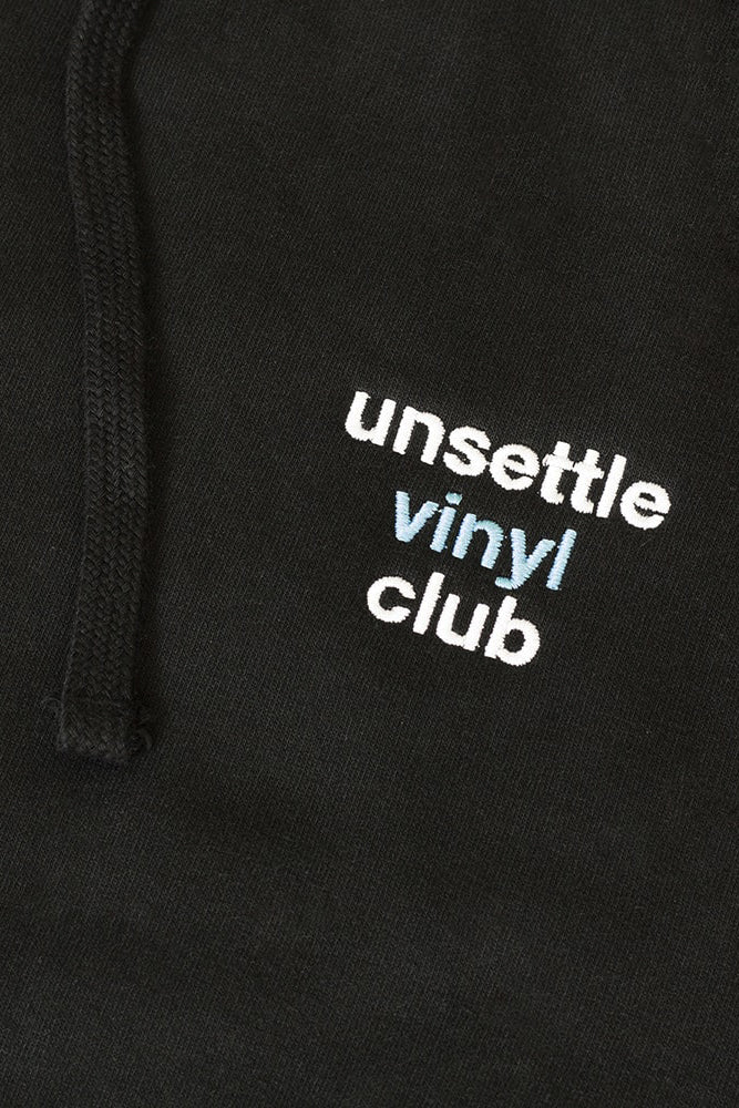 Unsettle Vinyl Club Hoodie | Space Black