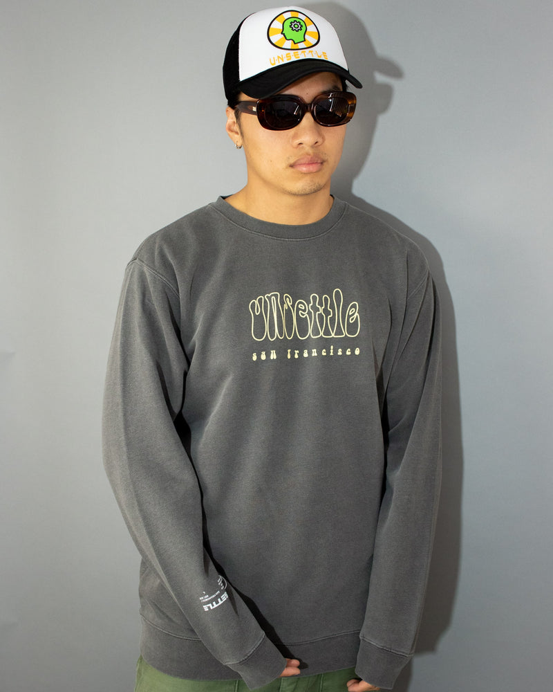 Wavy Logo Sweater | Smoke