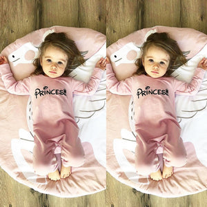 f7f88bc5dcd4 Newborn Infant Baby Girl Letter Princess Romper Jumpsuit Outfits Clothes
